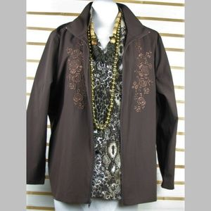 light weight Jacket & blouse Earthy browns EUC